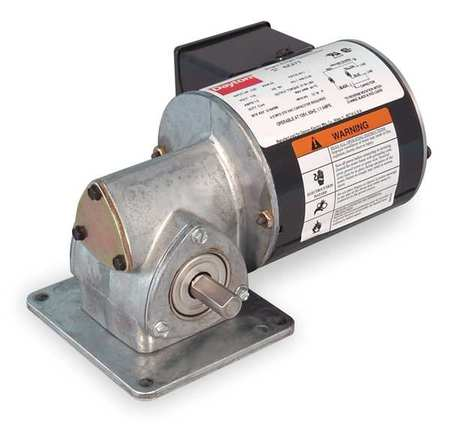 AC Gearmotor, 43 rpm, TENV, 115VAC
