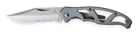 Locking Pocket Knife, Serrated, 2 1/4 In