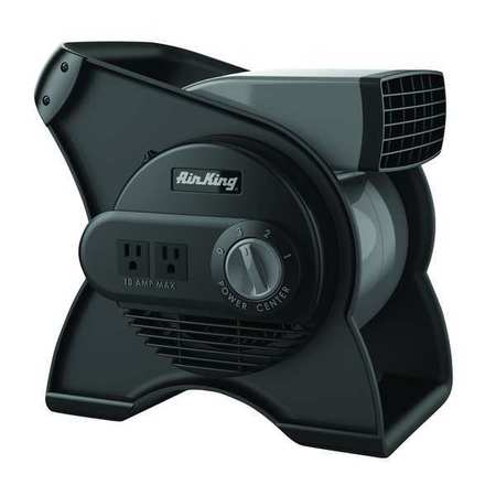 Portable Blower Fan, 120V, 310 cfm, Gray