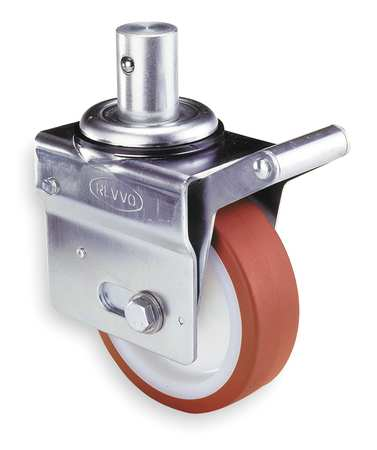Scaffold Caster, Polyurthan, 8 in., 1800 lb