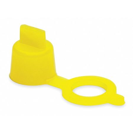 Grease Fitting Cap, Yellow, PK10