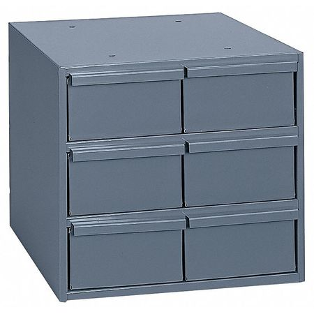 Drawer Bin Cabinet, 11-5/8 In. D, Gray