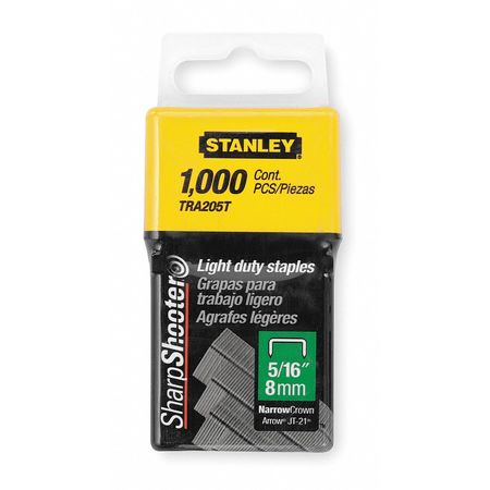 "29/64"" x 1/4"" Light Duty Wide Crown SharpShooter Staples,  1000 pk."