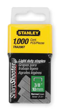 "29/64"" x 3/8"" Light Duty Wide Crown SharpShooter Staples,  1000 pk."