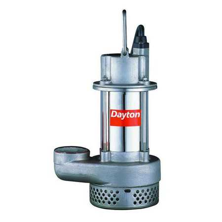 Sump Pump,  Stainless 1/2 HP,  4.7 Amps AC