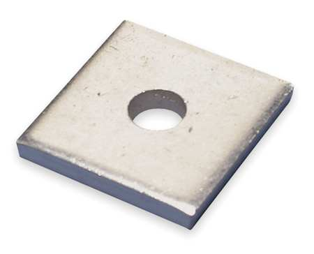 Square Channel Washer, 1/2 In, Steel