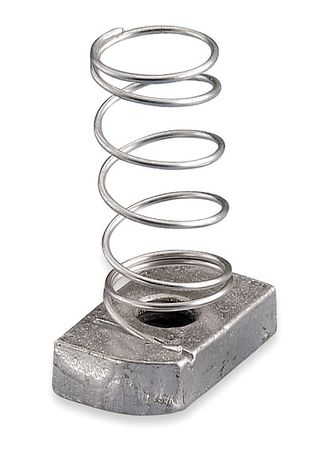 Channel Nut With Spring, 1/2-13 In, Steel