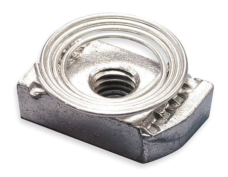 Channel Nut w/ Top Spring, 1/4-20 In