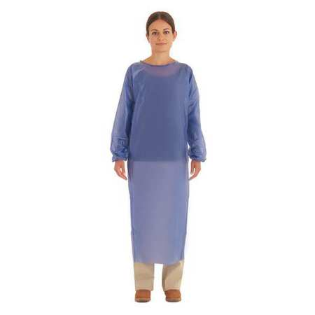 Cleanroom Apron, Blue, Large