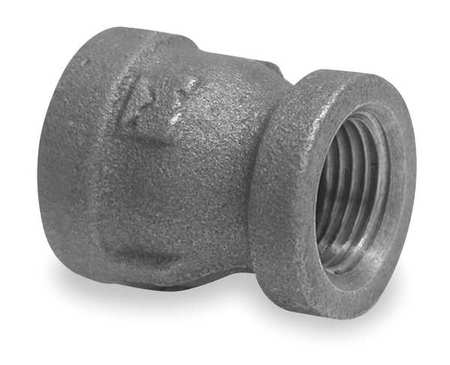 "2"" x 1-1/4"" FNPT Black Malleable Iron Reducer"