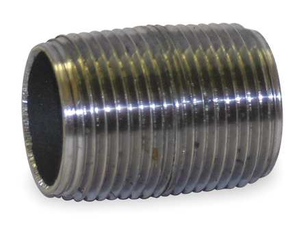 "3/4"" NPT Threaded Black Close Pipe Nipple Sch 80"