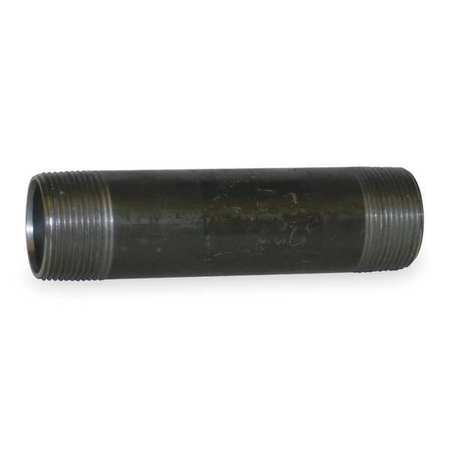 "1-1/2"" x 9"" NPT Threaded Black Pipe Nipple Sch 80"