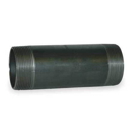 "2"" x 4-1/2"" NPT Threaded Black Pipe Nipple Sch 80"