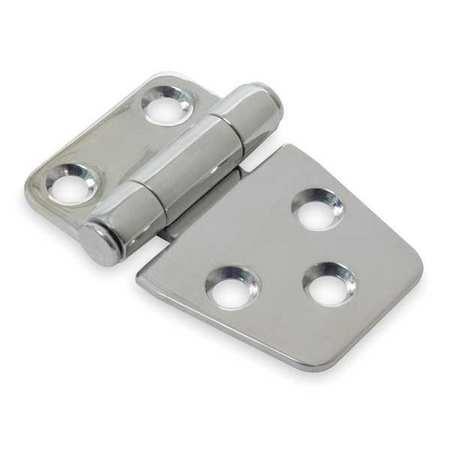 Utility Hinge, Flat, Silver, PK2