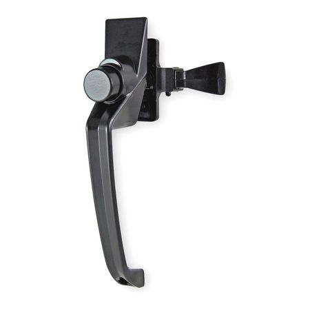 Latch, 7-1/4 In L, 1-1/2 In W, Black