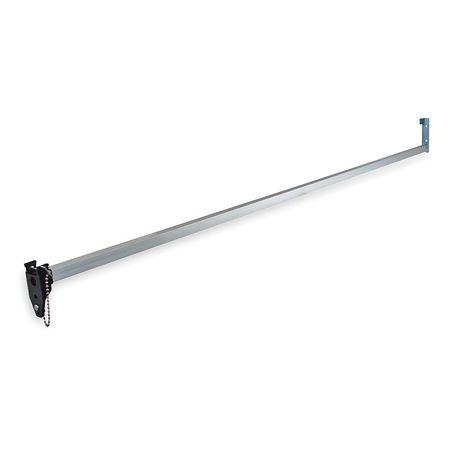 Sliding Door Bar Lock, Satin Aluminum