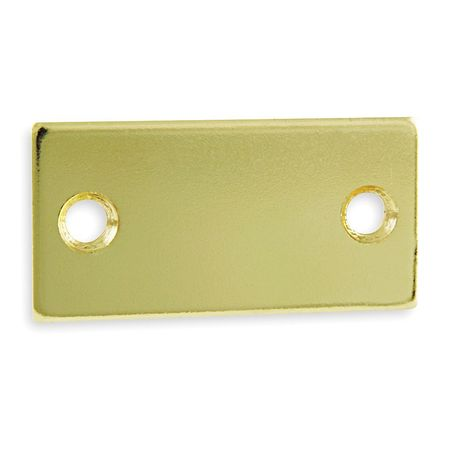 Filler Plate, Strike, Brass, L 2 1/4 In