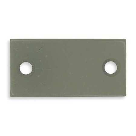 Filler Plate, Strike, Gray, L 2 1/4 In