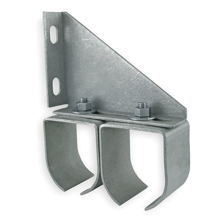 Bracket, Double Rail, Steel, L 5 3/4 In