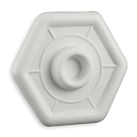 Protector Plate, White,  Dia. 3-4/5 In.