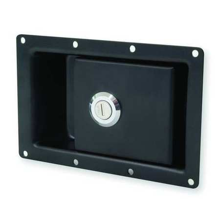 Pivot Pawl Latch, Keyed, Blk Powder Coated