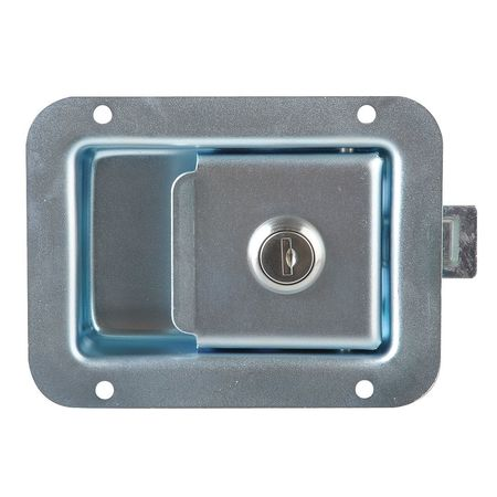Paddle Latch, Keyed, Zinc Plated
