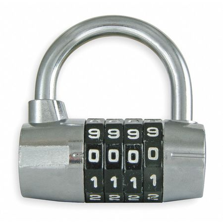 Luggage/Briefcase Padlock, Steel, Bottom