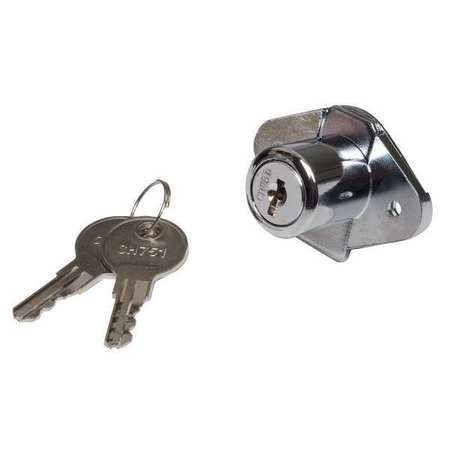 Drawer Dead Bolt, Key CH751, Chrome Plated