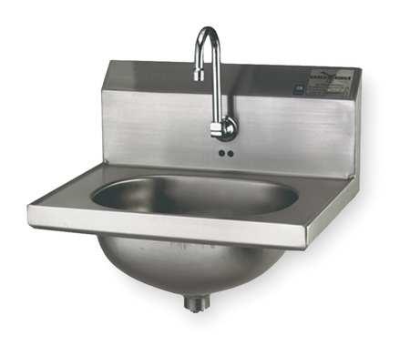 Hand Sink, Wall, 18-7/8 In. L, 14-3/4 In. W
