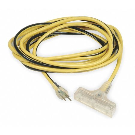 100 ft. 12/3 3-Outlet Lighted Extension Cord SJTW