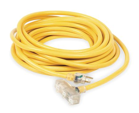 100 ft. 10/3 3-Outlet Lighted Extension Cord SJTW