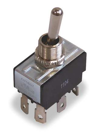 Toggle Switch, DPDT, 10A @ 250V, QuikConnct