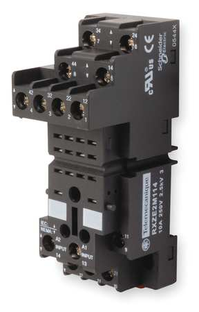 Relay Socket, Standard, Square, 14 Pin, 10A
