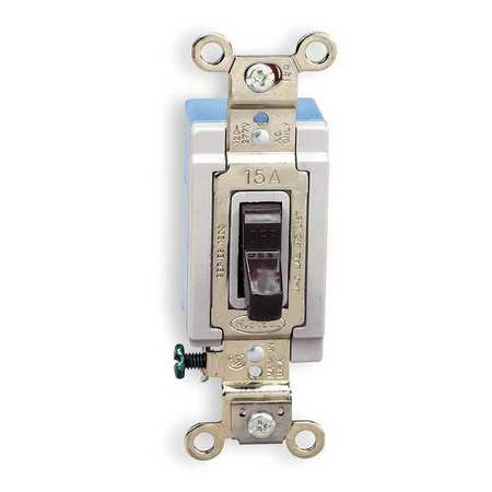Wall Switch, 3-Way, 120/277V, 15A, Brn, Toggl