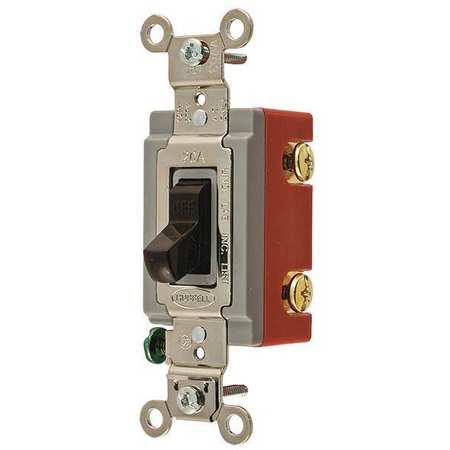 Wall Switch, 3-Way, 120/277V, 20A, Brn, Toggl