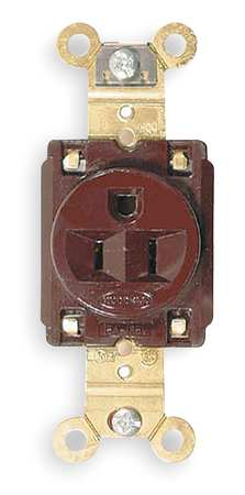 15A Single Receptacle 125VAC 5-15R BN