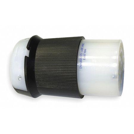 30A Twist-Lock Connector 4P 5W 120/208VAC L21-30R BK/WT