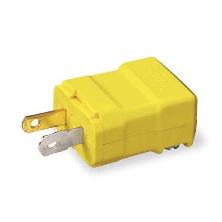 2 Wire Straight Blade Plug 125VAC 15A