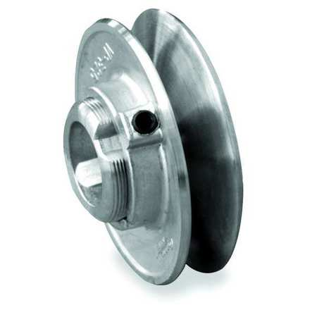 "5/8"" Fixed Bore 1 Groove Variable Pitch Pulley 4"" OD"