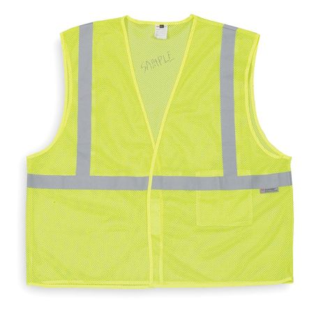 3XL Class 1 High Visibility Vest,  Lime