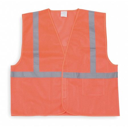 High Visibility Vest, Class 1, 2XL, Orange