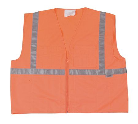 4XL Class 1 High Visibility Vest,  Orange