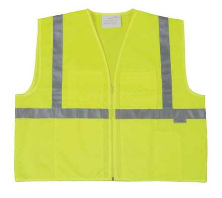 4XL Class 1 High Visibility Vest,  Lime