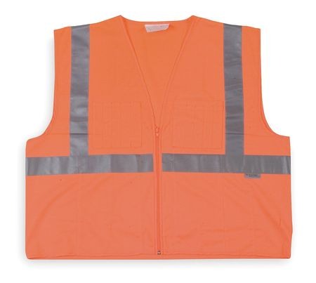 4XL Class 2 High Visibility Vest,  Orange
