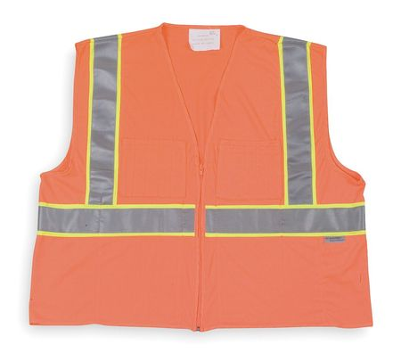 Cool Dry High Visibility Vest, Class 2, 3XL, Orange