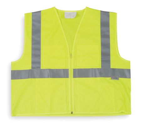 4XL Class 2 High Visibility Vest,  Lime