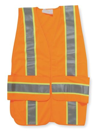 M/L Class 2 Expand High Visibility Vest,  Orange