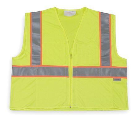 2XL Class 2 Cool Dry High Visibility Vest,  Lime