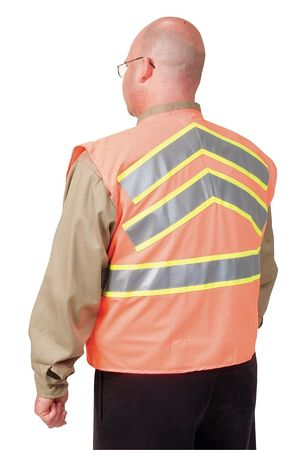 High Visibility Vest, Class 2, XL, Orange