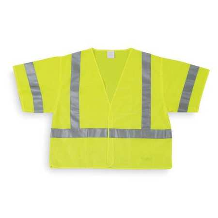 High Visibility Vest, Class 3, 3XL, Lime